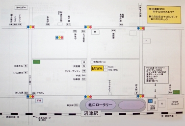 沼津駅北口マップ