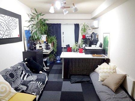 わたしの部屋 黒い猫は福猫