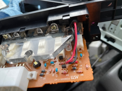 JB33エアコンパネル照明交換