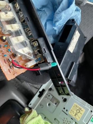 JB33 エアコンパネル照明交換2
