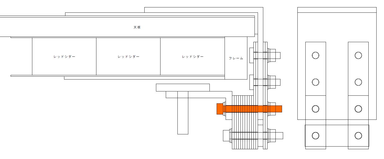 エルゴトロン LX モニターアームのクランプをフレーム付きワークテーブルに固定した時のメモ、エルゴトロン LX モニターアームクランプ - ワークテーブル固定用部品・工具リスト、トラスコ 六角穴付ボルト三価 白 半ネジ サイズ M6×55 8本入 B730-0655 必要本数 2本