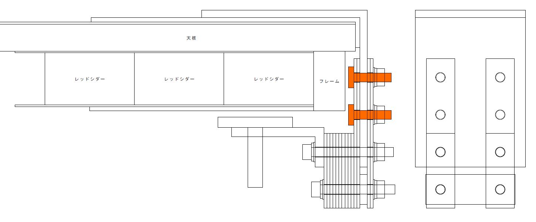 エルゴトロン LX モニターアームのクランプをフレーム付きワークテーブルに固定した時のメモ、エルゴトロン LX モニターアームクランプ - ワークテーブル固定用部品・工具リスト、トラスコ トラス頭小ねじ三価 白 全ネジ M6×25 28本入 B704-0625 必要本数 4本