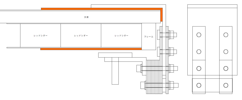 エルゴトロン LX モニターアームのクランプをフレーム付きワークテーブルに固定した時のメモ、エルゴトロン LX モニターアームクランプ - ワークテーブル固定用部品・工具リスト、HUANUO モニターアーム補強プレート取り付け場所
