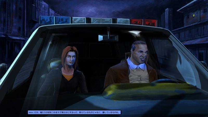 PC ゲーム Cognition: An Erica Reed Thriller 日本語化メモ、PC ゲーム Cognition: An Erica Reed Thriller 日本語化手順、Cognition: An Erica Reed Thriller 用日本語フォントサンプルファイル公開、Cognition: An Erica Reed Thriller - UnityEX 対応版 2021年6月22日版(ja0555-UnityEX-20210622.7z)日本語化ファイルインストール後の Cognition Episode 4: The Cain Killer スクリーンショット(Rounded M+ フォント)