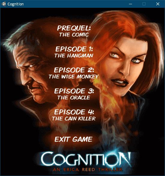 PC ゲーム Cognition: An Erica Reed Thriller 日本語化メモ、PC ゲーム Cognition: An Erica Reed Thriller 日本語化手順、Steam 版のみ Steam ライブラリから起動した際に Cognition ランチャー画面が起動してプレイしたいエピソードを選択