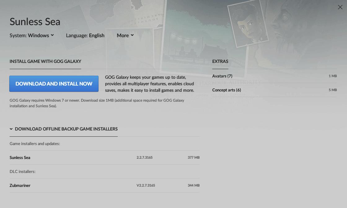 PC ゲーム Sunless Sea + DLC Zubmariner 日本語化と日本語化ファイル解析メモ、PC ゲーム Sunless Sea + DLC Zubmariner 日本語化手順、GOG 版 Sunless Sea + DLC Zubmariner 日本語化方法、GOG 版 Sunless Sea + DLC Zubmariner 日本語化可能