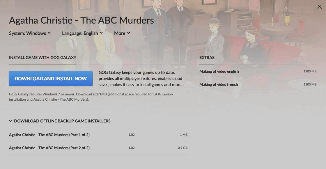 PC ゲーム Agatha Christie - The ABC Murders 日本語化メモ、DRM フリー版 Agatha Christie - The ABC Murders 非公式日本語化手順、GOG 版 Agatha Christie - The ABC Murders(Unity 5.1.2p1) 日本語化可能