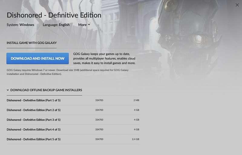 PC ゲーム Dishonored - Definitive Edition で Scaleform 日本語フォント、ビットマップ日本語フォントを追加する方法、PC ゲーム Dishonored - Definitive Edition 日本語化基本情報、GOG 版 Dishonored - Definitive Edition 日本語化&日本語フォント追加可能
