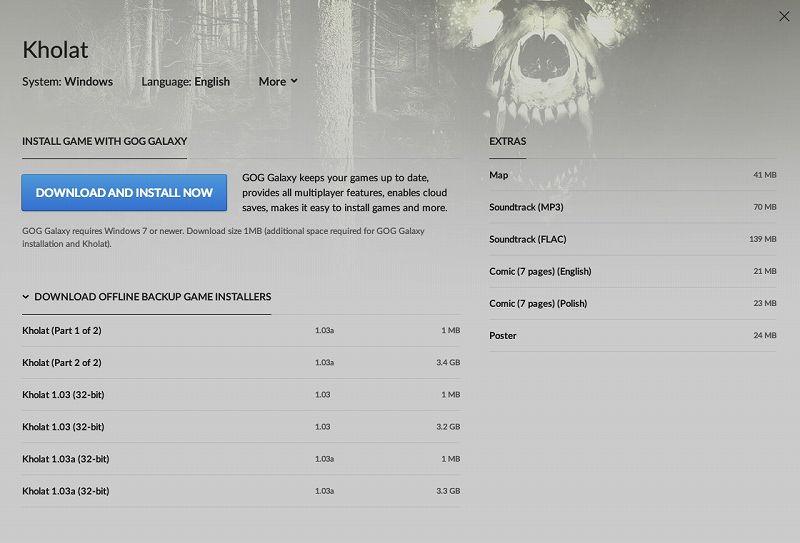 PC ゲーム Kholat 有志日本語データ抽出方法と Unreal Engine 4 locres 翻訳ファイル編集方法メモ、PC ゲーム Kholat 日本語情報、GOG 版 Kholat