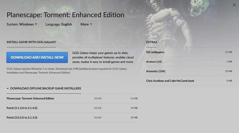 GOG 版 Planescape: Torment: Enhanced Edition 日本語化メモ、GOG 版 Planescape: Torment: Enhanced Edition 日本語化可