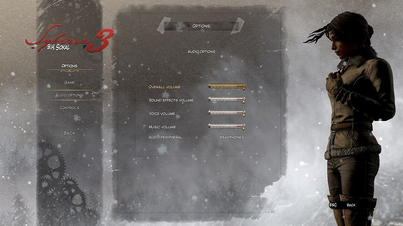 PC ゲーム Syberia 3 で日本語を表示する方法、PC ゲーム Syberia 3 言語ファイル 中国語版 → 英語版差し替え方法、英語テキスト・フォントスクリーンショット