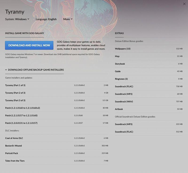 PC ゲーム Tyranny - Gold Edition 日本語化メモ、PC ゲーム Tyranny - Gold Edition 日本語化手順、GOG 版 Tyranny - Gold Edition 日本語化可能