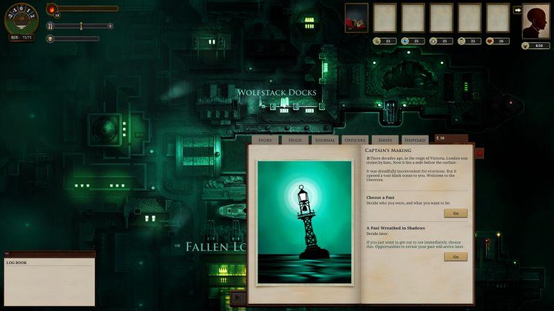 PC ゲーム Sunless Sea + DLC Zubmariner 日本語化と日本語化ファイル解析メモ、PC ゲーム Sunless Sea + DLC Zubmariner 日本語ファイル解析メモ、Sunless Sea + DLC Zubmariner - UnityEX を使った翻訳ファイルエクスポート・インポート、UnityEX を使って Unity_Assets_Files\resources フォルダにエクスポートした events.txt ファイルに日本語文字を追加、インポート後ゲーム内で追加文字が表示されていることを確認