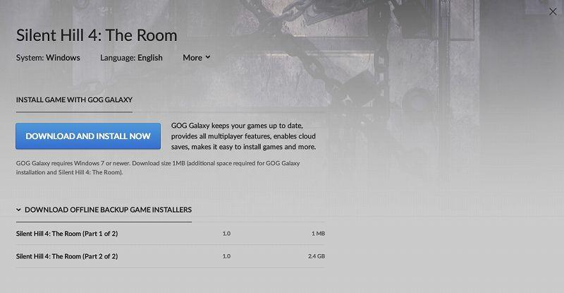 GOG 版 Silent Hill 4: The Room 日本語化メモ、GOG 版 Silent Hill 4: The Room 基本情報と日本語化方法、GOG.com で購入した Silent Hill 4: The Room