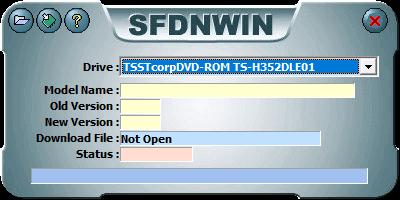 東芝サムスン製 DVD ドライブ TS-H352D の SH-D162D 化メモ、DVD ドライブ TS-H352D をファームウェアアップデートで SH-D162D 化、管理者権限でコマンドプロンプトを起動、cd コマンドでファームウェアアップデートツール・ファイルがあるフォルダに移動、sfdnwin.exe -nocheck を実行後、MESSAGE 画面 -Nocheck Use!! が表示、OK ボタンで閉じると SFDNWIN 画面が表示