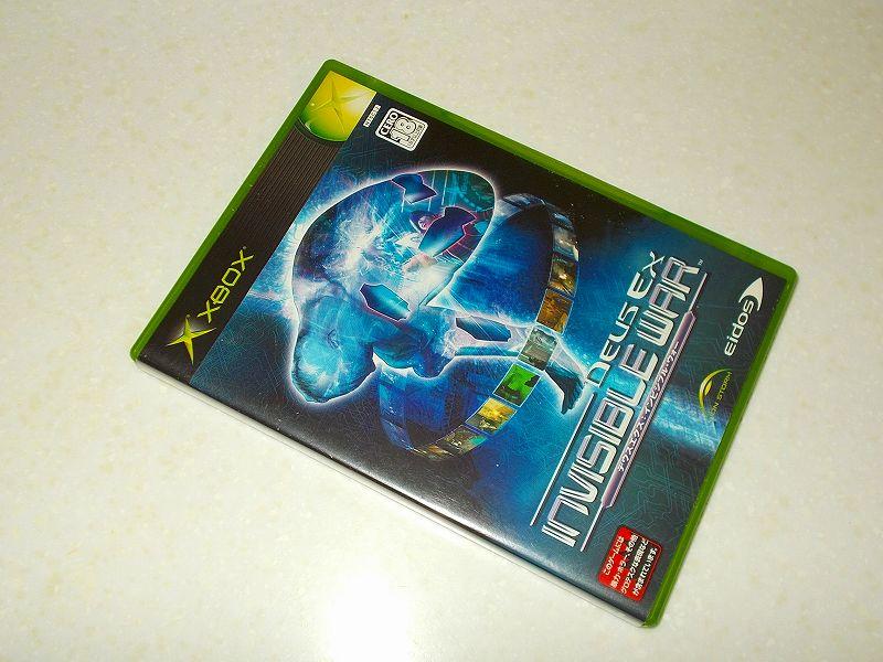 東芝サムスン製 DVD ドライブ TS-H352D の SH-D162D 化メモ、DVD ドライブ SH-D162D と Xbox Backup Creator で Xbox(初代)ディスクダンプ結果、デウスエクス:インビジブルウォー(Xbox) パッケージ
