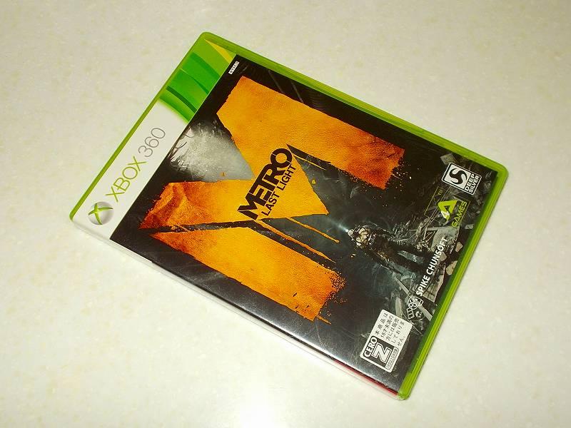 東芝サムスン製 DVD ドライブ TS-H352D の SH-D162D 化メモ、DVD ドライブ SH-D162D と Xbox Backup Creator で Xbox 360(XGD3)ディスクダンプ結果、メトロ ラストライト(Xbox 360) パッケージ
