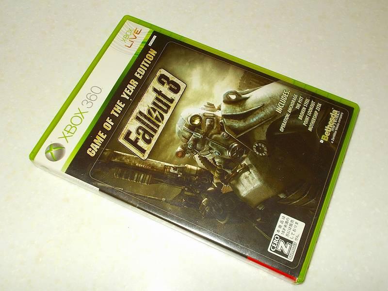 東芝サムスン製 DVD ドライブ TS-H352D の SH-D162D 化メモ、DVD ドライブ SH-D162D と Xbox Backup Creator で Xbox 360(XGD2)ディスクダンプ結果、Fallout 3: Game of the Year Edition(Xbox 360) パッケージ