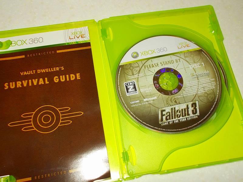 東芝サムスン製 DVD ドライブ TS-H352D の SH-D162D 化メモ、DVD ドライブ SH-D162D と Xbox Backup Creator で Xbox 360(XGD2)ディスクダンプ結果、Fallout 3: Game of the Year Edition(Xbox 360) DISC 1