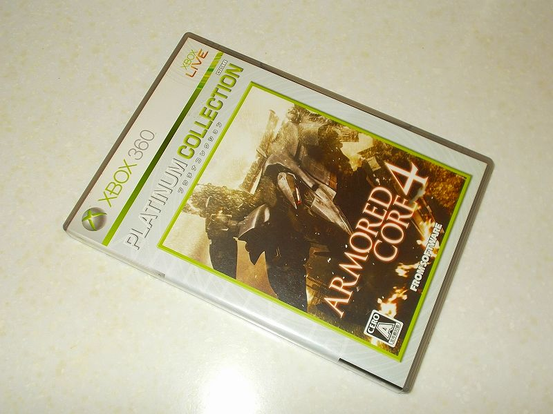 東芝サムスン製 DVD ドライブ TS-H352D の SH-D162D 化メモ、DVD ドライブ SH-D162D と Xbox Backup Creator で Xbox 360(XGD2)ディスクダンプ結果、アーマード・コア 4 プラチナコレクション(Xbox 360) パッケージ