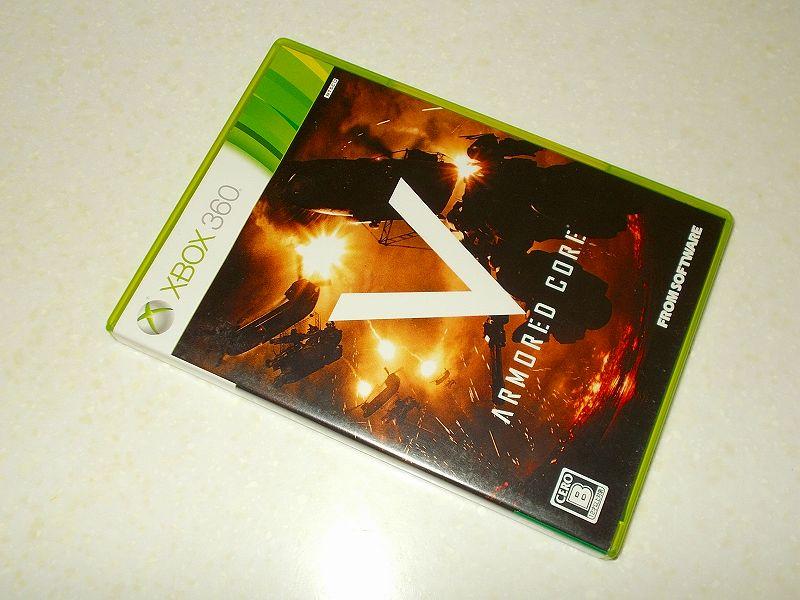東芝サムスン製 DVD ドライブ TS-H352D の SH-D162D 化メモ、DVD ドライブ SH-D162D と Xbox Backup Creator で Xbox 360(XGD2)ディスクダンプ結果、ARMORED CORE V(アーマード・コア ファイブ)(Xbox 360) パッケージ