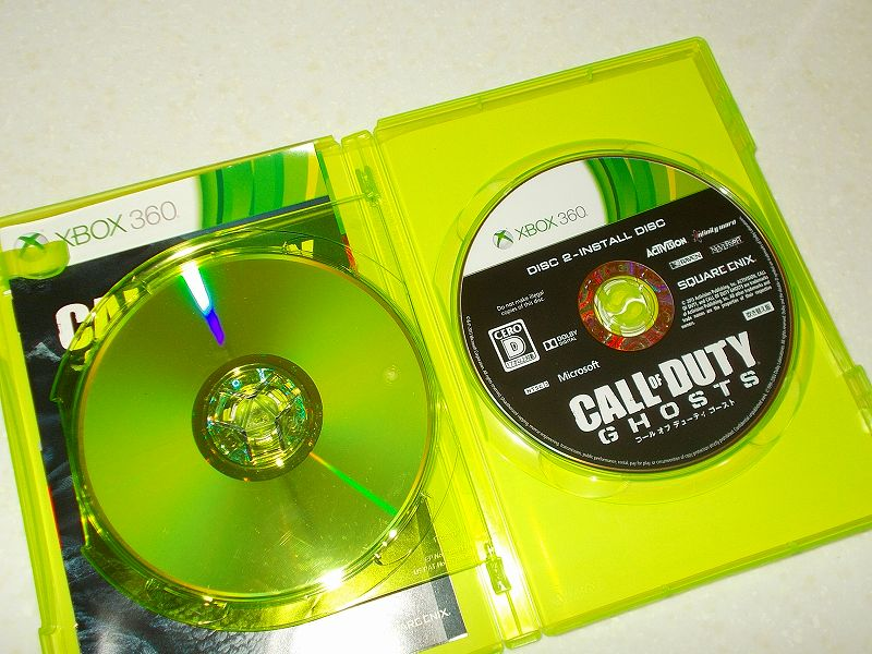 東芝サムスン製 DVD ドライブ TS-H352D の SH-D162D 化メモ、DVD ドライブ SH-D162D と Xbox Backup Creator で Xbox 360(XGD3)ディスクダンプ結果、コール オブ デューティ ゴースト 吹き替え版(Xbox 360) ディスク 2