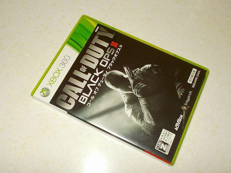 東芝サムスン製 DVD ドライブ TS-H352D の SH-D162D 化メモ、DVD ドライブ SH-D162D と Xbox Backup Creator で Xbox 360(XGD3)ディスクダンプ結果、コール オブ デューティ ブラックオプス II 吹き替え版(Xbox 360) パッケージ