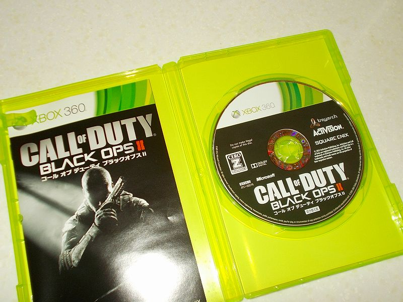 東芝サムスン製 DVD ドライブ TS-H352D の SH-D162D 化メモ、DVD ドライブ SH-D162D と Xbox Backup Creator で Xbox 360(XGD3)ディスクダンプ結果、コール オブ デューティ ブラックオプス II 吹き替え版(Xbox 360) ディスク