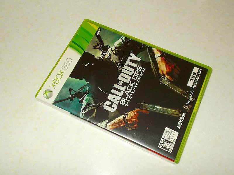 東芝サムスン製 DVD ドライブ TS-H352D の SH-D162D 化メモ、DVD ドライブ SH-D162D と Xbox Backup Creator で Xbox 360(XGD2)ディスクダンプ結果、コール オブ デューティ ブラックオプス 字幕版(Xbox 360) パッケージ