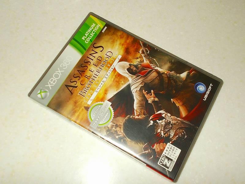 東芝サムスン製 DVD ドライブ TS-H352D の SH-D162D 化メモ、DVD ドライブ SH-D162D と Xbox Backup Creator で Xbox 360(XGD2)ディスクダンプ結果、アサシン クリード ブラザーフッド スペシャルエディション プラチナコレクション(Xbox 360) パッケージ