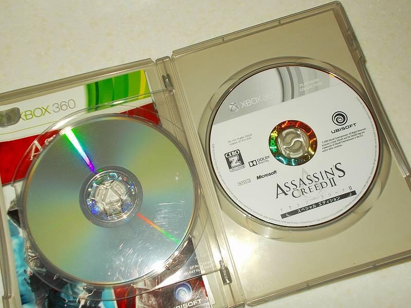 東芝サムスン製 DVD ドライブ TS-H352D の SH-D162D 化メモ、DVD ドライブ SH-D162D と Xbox Backup Creator で Xbox 360(XGD2)ディスクダンプ結果、アサシン クリード I+II ウェルカムパック プラチナコレクション(Xbox 360) アサシン クリード II スペシャルエディションディスク