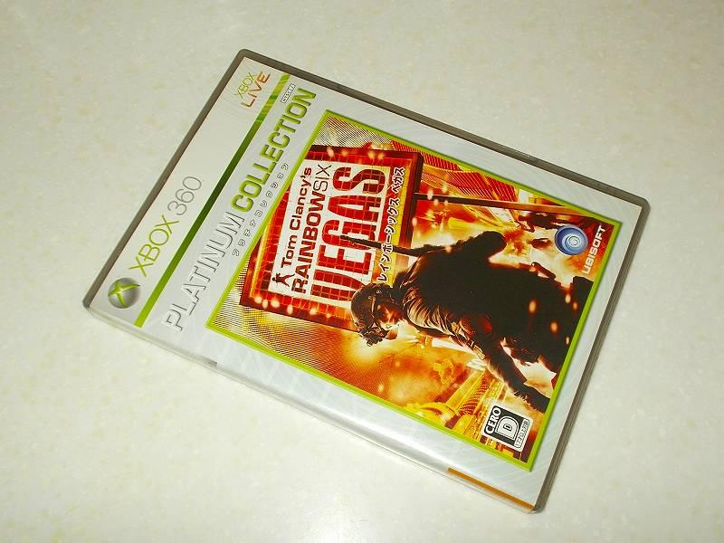 東芝サムスン製 DVD ドライブ TS-H352D の SH-D162D 化メモ、DVD ドライブ SH-D162D と Xbox Backup Creator で Xbox 360(XGD2)ディスクダンプ結果、レインボーシックス ベガス プラチナコレクション(Xbox 360) パッケージ