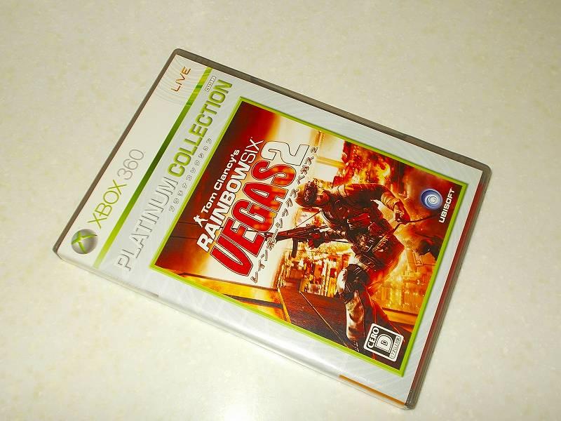 東芝サムスン製 DVD ドライブ TS-H352D の SH-D162D 化メモ、DVD ドライブ SH-D162D と Xbox Backup Creator で Xbox 360(XGD2)ディスクダンプ結果、レインボーシックス ベガス 2 プラチナコレクション(Xbox 360) パッケージ