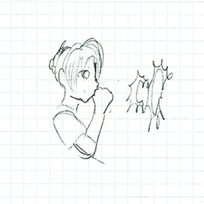 タニシちゃんラフイラスト1