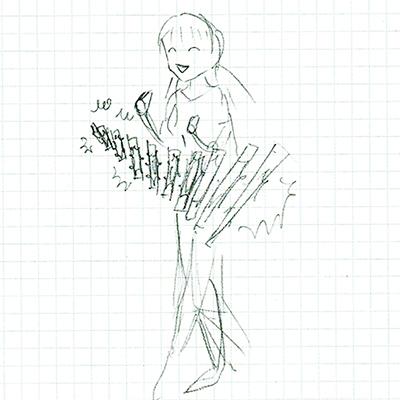 ホタルちゃんラフイラスト3