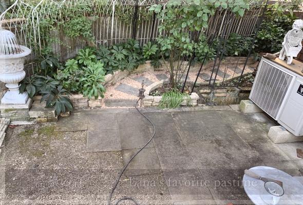 庭掃除 コケ除去 テラス 20201204