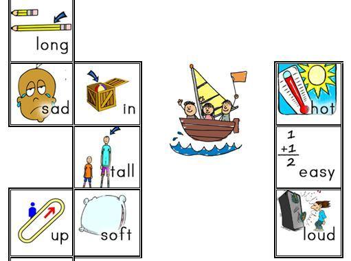 英語対義語スゴロク台紙opposite word adjectives board game1