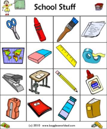 英語学習用イラストビンゴカードBingo-card-4-4