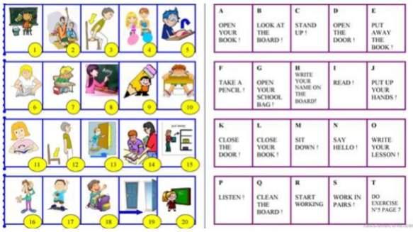 教室英語学習プリントClassroom-English-worksheet2