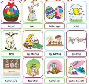 イースター英単語Easter-words-poster