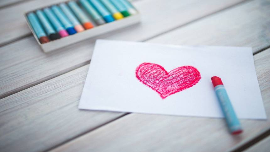 Heart-on-paper