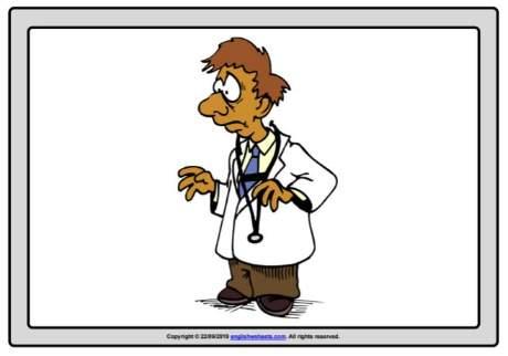 無料英語職業フラッシュカードJob-flashcard-doctor