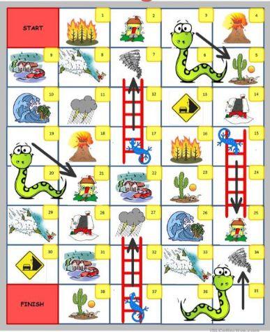英語スゴロク自然災害英単語Natural-disasters-Board-game