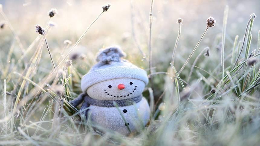 Snowman-in-winter