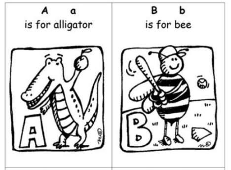 手作りアルファベット絵本The-alphabet-booklet