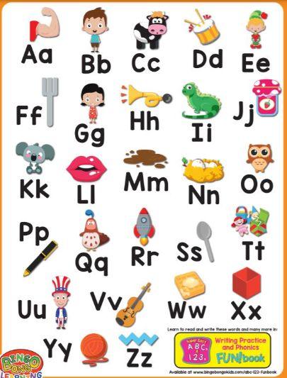 英語アルファベット一覧表大文字小文字The-alphabet-chart1