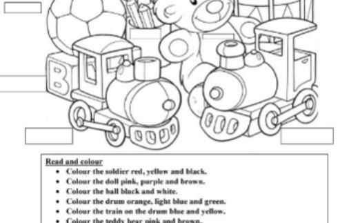 おもちゃ玩具英語ワークシートToys-worksheet