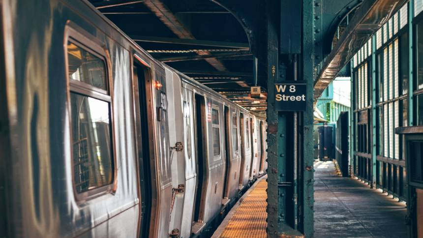 Train-at-a-station