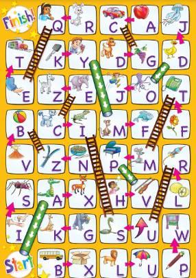 アルファベットスゴロク台紙alphabet-boardgame