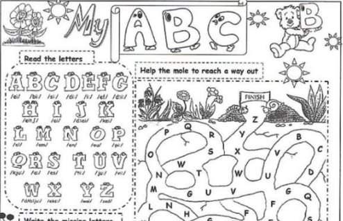 英語アルファベット挨拶ワークシートalphabet-greetings-worksheet